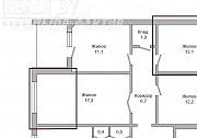1/3 доли в четырехкомнатной квартире, Гаврилова ул. - 200665 Брест