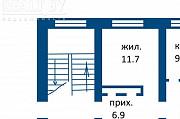 Продажа 1 комнатной квартиры, г. Борисов, ул. Днепровская, дом 31. Цена 54642руб c торгом Борисов