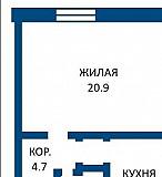 Продажа 1 комнатной квартиры, г. Борисов, ул. Орджоникидзе, дом 3. Цена 32151руб Борисов